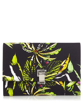 clutch floral print navy bag