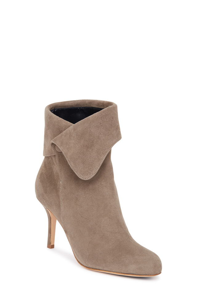Sophia taupe suede ankle boot, 85mm