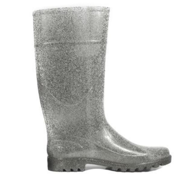 Silver Glitter Rain Boots | Danice Stores