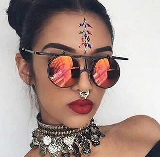 sunglasses glasses sexy spicy red orange edgy gorgeous baddies boho grunge goth hipster hipster bold