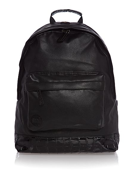 Mi Pac Premium faux croc leather backpack Black - House of Fraser