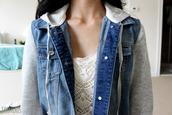 jacket,denim jean jacket,tumblr outfit,blue jacket,blue denim jacket,tumbr girl,blue,denim jacket