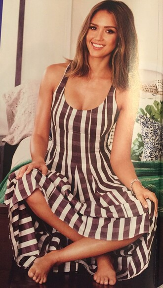 dress people magazine jessica alba maxi dress striped dress