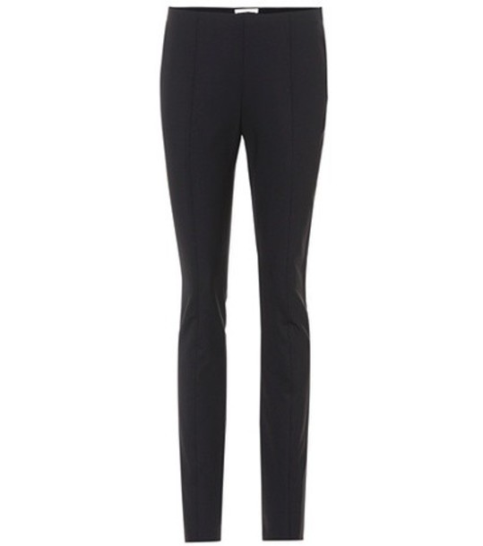 The Row wool black pants