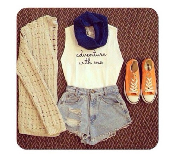 tank top white singlet cute adventure sweater