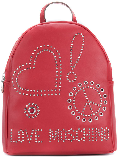 LOVE MOSCHINO women backpack leather red bag