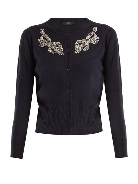 WEEKEND MAX MARA cardigan cardigan navy sweater