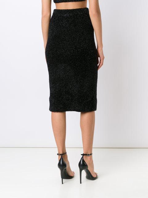 Calvin Klein Collection Glitter Effect Fitted Skirt - Fivestory - Farfetch.com