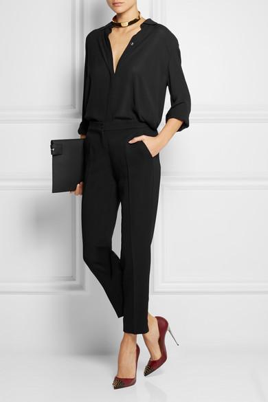 Etro | Cropped stretch-crepe straight-leg pants | NET-A-PORTER.COM