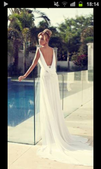 dress white dress wedding dress white wedding vintage girly long prom dress cute prom dress long dress