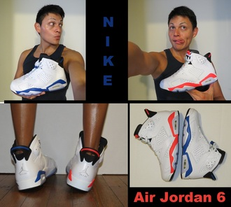 infrared sport blue infrared 6s shoes sneakers high top sneakers nike basketball shoes air jordans air jordan air jordan 6 sport blues 6s