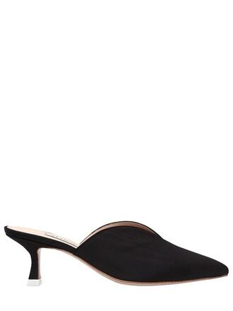 mules black shoes