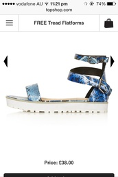 shoes,cool,trendy,flatforms,sandals,blue