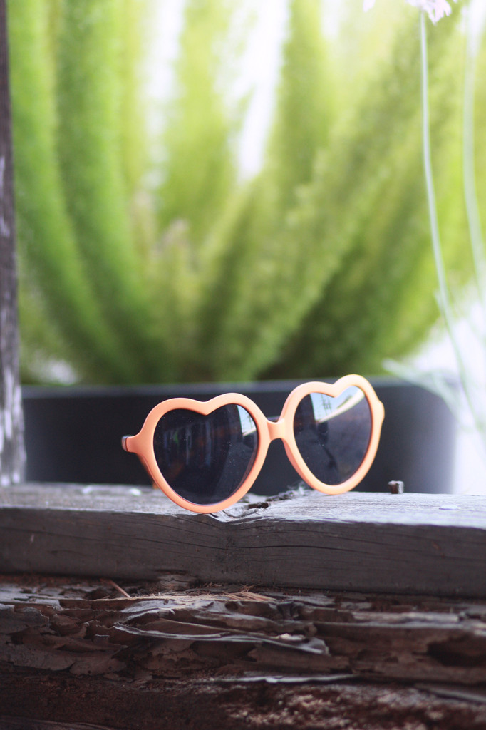 Heart Sunglasses - Orange | Obsezz