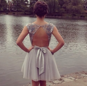 dress dress grey grey pretty openback prom dress purple open back skater dress evening dress party lace chiffon sequins short prom dress grey sequin dress jeweled dress beautiful bow grey dress open back dresses cute dress prom short backless lake summer cute hip back cut out dress