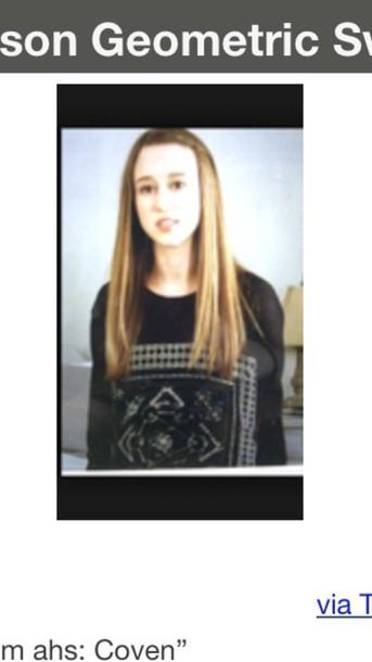 jacket zoey benson american horror story sweater