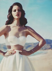 skirt,white,nail polish,prep,edgy,glamour,classic,lace,lana del rey,Pin up,vintage,beautiful,tank top,perfect,white bandeau,bandeau,flare,high waisted skirt,shirt,top,underwear,whire,white skirt,white top,dress,lana,cute,combo,love,lovely,sweet,pattern,crop tops,bra,jewels,lace top,white dress,beach dress,twopiecedress,white crop tops