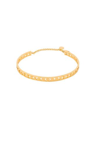 cuff chevron metallic gold