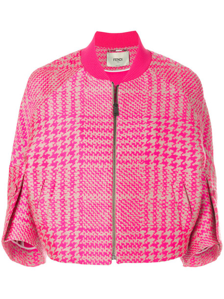 jacket bomber jacket women plaid silk wool purple pink