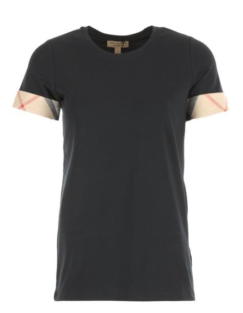 Burberry t-shirt shirt cotton t-shirt t-shirt cotton dark blue dark blue top
