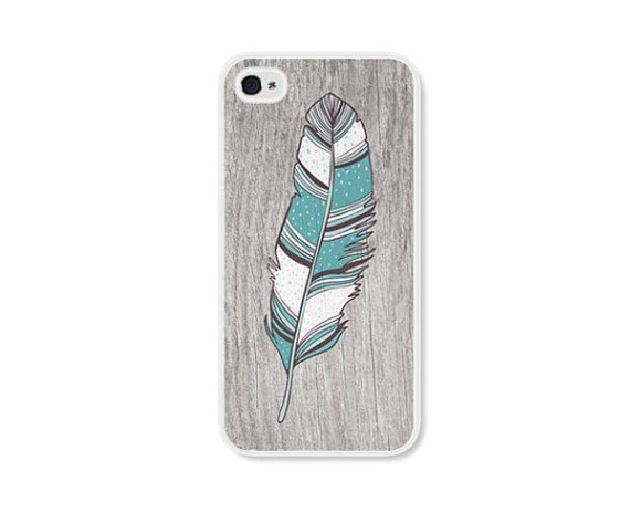 jewels feather iphone case grey iphone 4s cover
