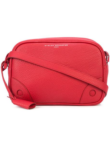 MYRIAM SCHAEFER cross women bag leather red