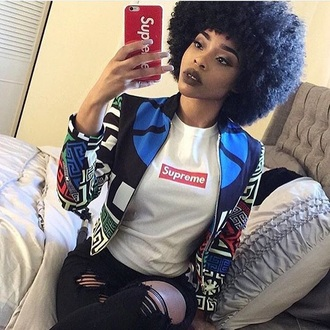 jacket colorful bomber jacket varsity