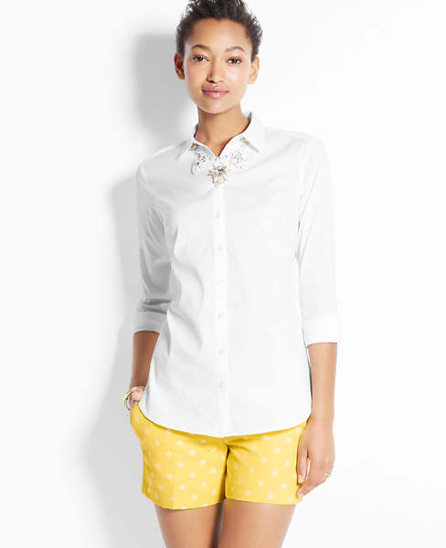 Perfect Long Sleeve Button Down Shirt | Ann Taylor