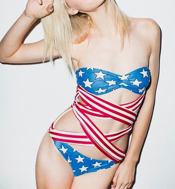 swimwear swimwear bikini beachwear stylemoi american flag swimwear swimwear underwear coral