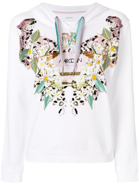 hoodie women spandex embellished white cotton sweater