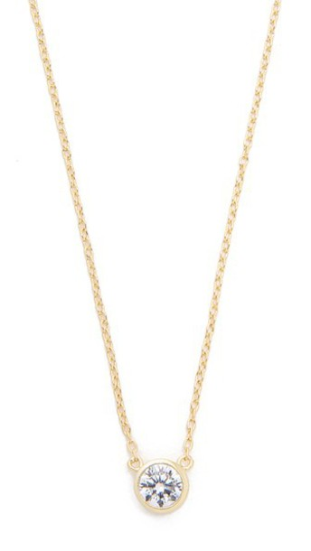 SHASHI clear necklace gold jewels