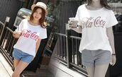 cocacola,asian,model,t-shirt
