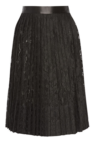 skirt pleated skirt pleated lace black satin black lace