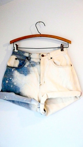 shorts white blue space