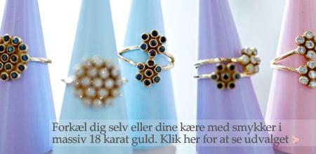 Smykke forhandler - Stort udvalg i smykker, øreringe, ringe, vedhæng, halskæder og armbånd.