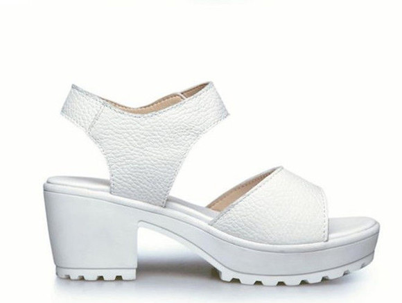 shoes sandals white shoes platform white chunky sandals chunky sandals