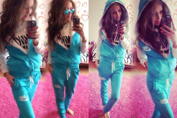 jacket nike hoodie fashion hood tracksuit tracksuit bottoms pants style sportswear winter outfits winter sweater jumpsuit sweatsuit turquoise longsleeve lace hoodie jacket nice cute