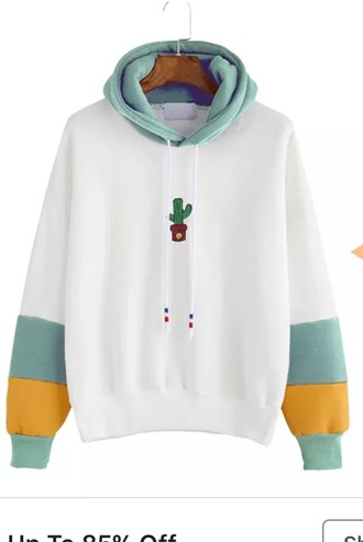 sweater romwe cactus embroidered hoodie casual pullover winter sweater