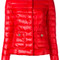 Herno - puffer jacket - women - cotton/feather down/polyamide/acetate - 46, red, cotton/feather down/polyamide/acetate