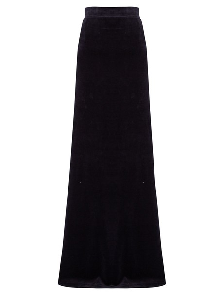 Vetements skirt maxi skirt maxi couture cotton navy