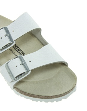 Birkenstock | Birkenstock Arizona White Leather Two Strap Sandals at ASOS