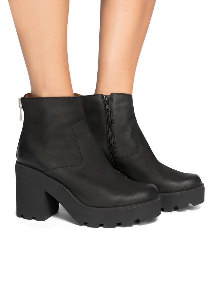 Black Chunky Platform Boots - Lug Sole Boots - $172