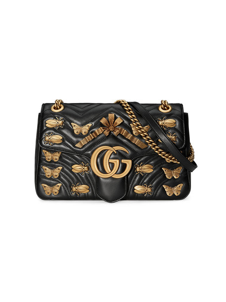 gucci metal women bag shoulder bag leather black