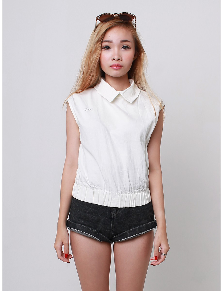 Collar banded Cropped top - Noix Cracker