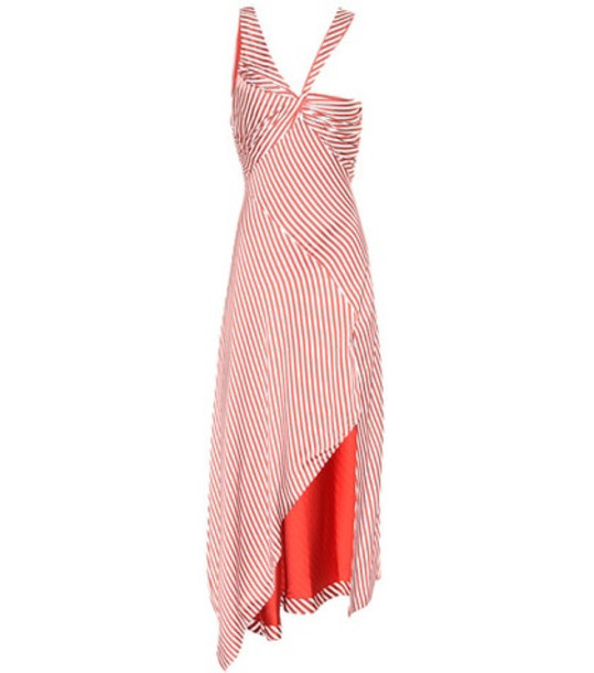 Jonathan Simkhai Striped midi dress in red