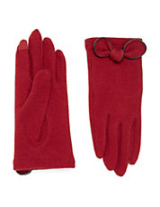 Women's Apparel | Boutiques  | Wool Tech Gloves With Bow Accent | Lord and Taylor