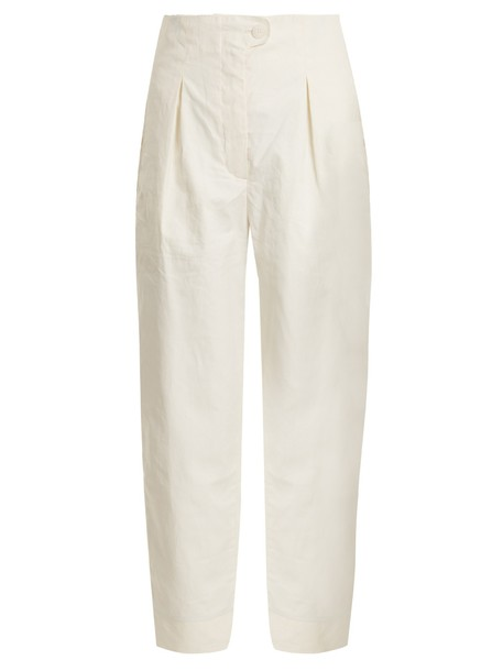 ANNA OCTOBER pleated high white pants