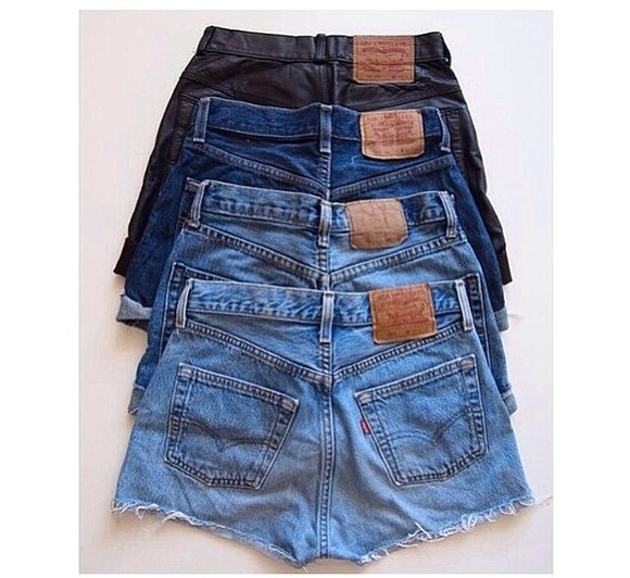 shorts black leather denim denim shorts dark blue denim blue denim light blue denim vintage vintage shorts dark blue light blue denim blue blue jeans