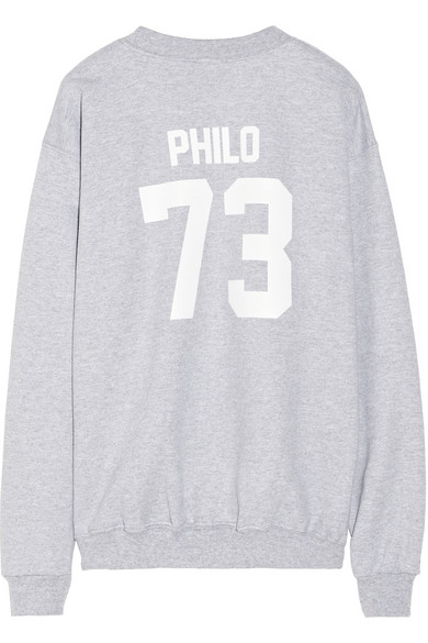 LPD New York | Team Philo printed cotton-fleece sweatshirt | NET-A-PORTER.COM