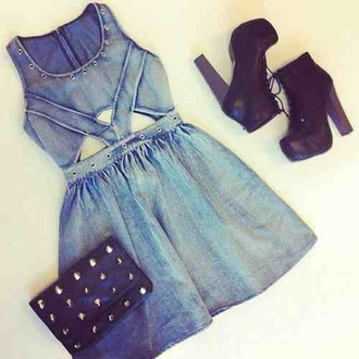 dress denim dress denim jeans cute shoes